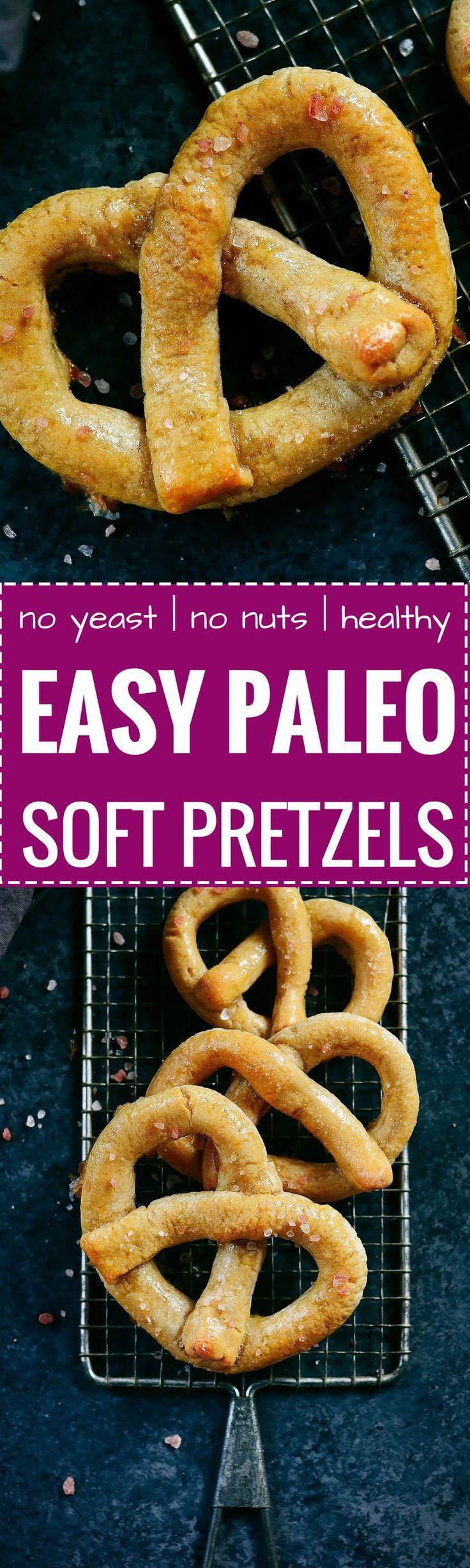 Best easy paleo diet pretzels. Made in a few mins. Yeast free. Nut free. Easy gluten free pretzel recipe. Homemade gluten free paleo pretzels. Easy gluten free pretzel recipe for kids. Paleo pretzel recipe.
