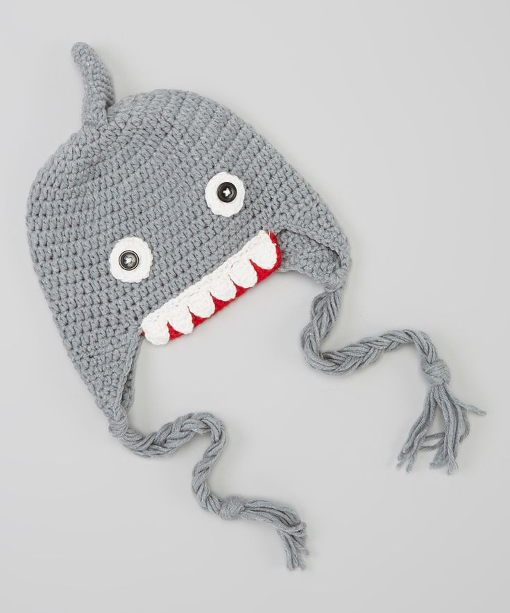 Gray Shark Earflap Beanie | Daily deals for moms, babies and kids