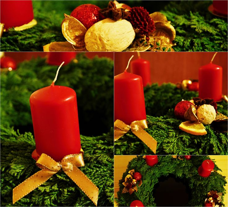 Advent wreath - red