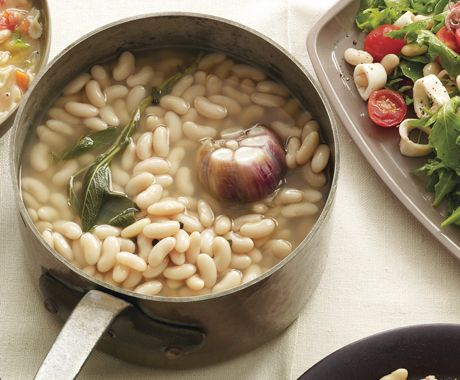 Cannellini Beans with Garlic and Sage from Epicurious.com #myplate #protein