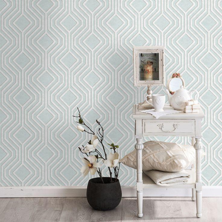 49 best geometric wallpaper images on pinterest for Opus wallpaper range