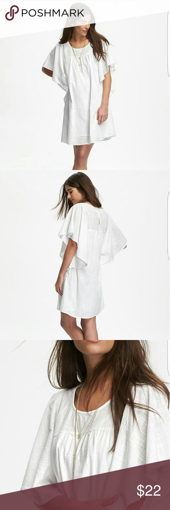 Old Navy Flutter Sleeve White Dress NWT New with Tags Perfect for summer Old Navy white sundress. Size medium. Old Navy Dresses Mini