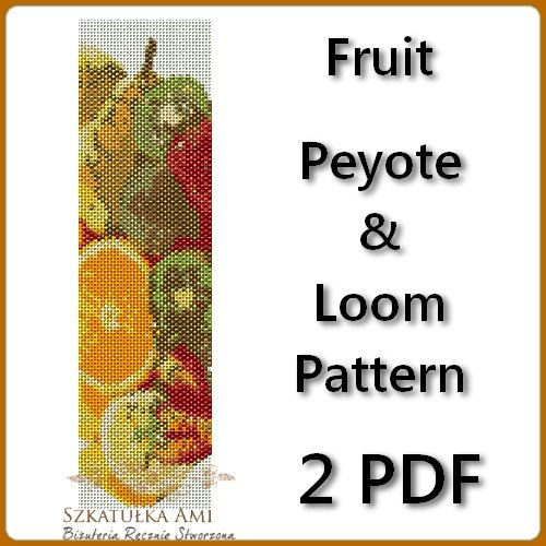 Fruit Loom and Peyote Pattern Beading  Tutorial by BeadingPattern