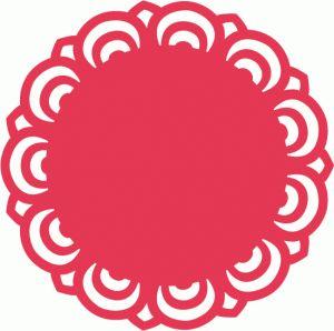 Silhouette Online Store: doily lace decoration