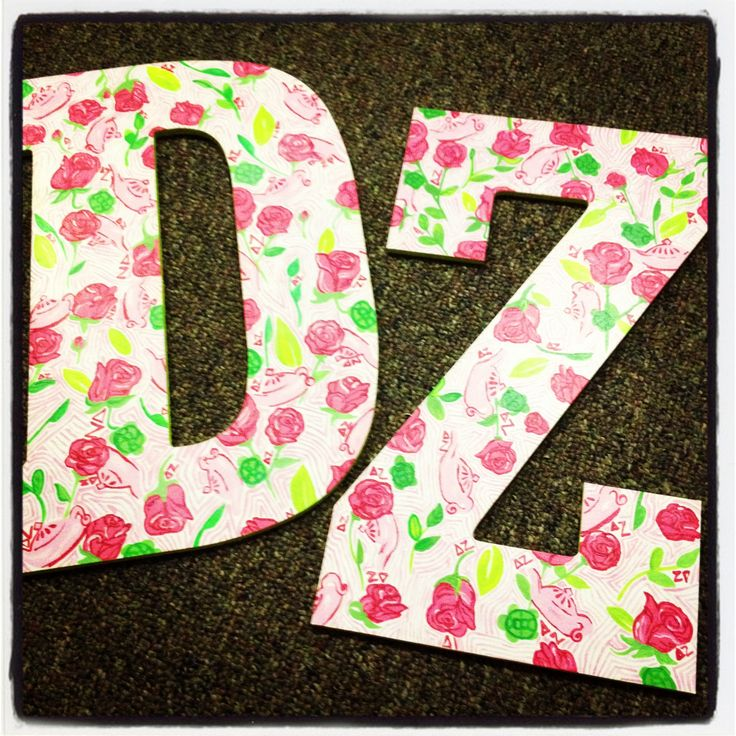 Lilly pulitzer delta zeta letters delta zeta for Lilly pulitzer sorority letters