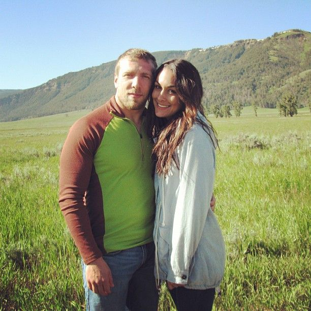 "Brian Danielson (Daniel Bryan) & his girlfriend Briana Garcia (Brie Bella). congratulations on your april 2014 wedding!!! luv the television show!!  (watch ""Total Divas"" on channel E!)"