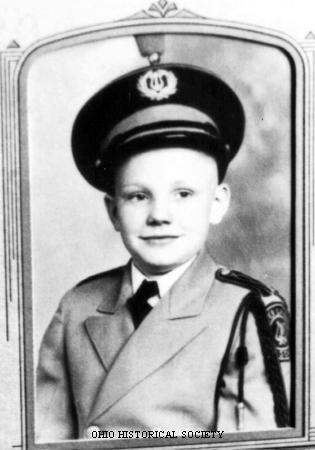 Photograph of astronaut Neil Armstrong as a child in his