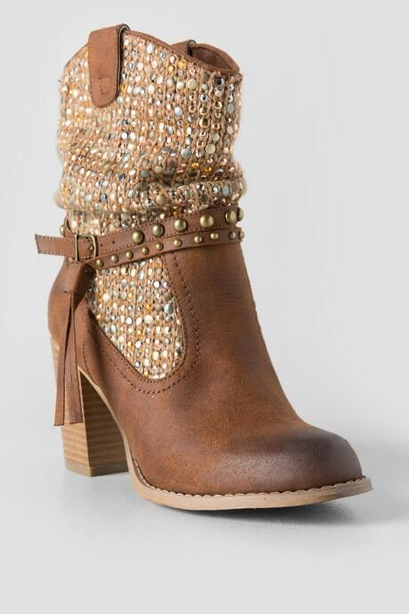 Not Rated, Thumbs Up Embellished Heeled Boot