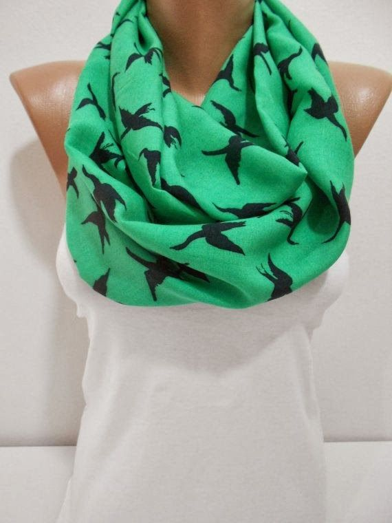 see more Stylish Bird Print Scarf