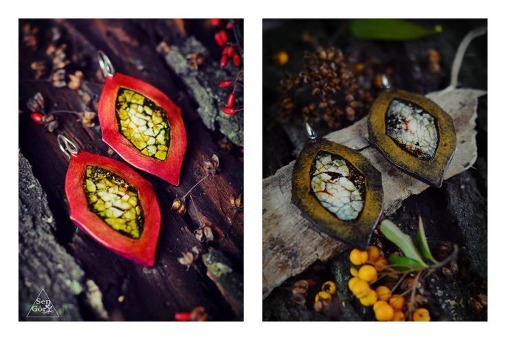 Ethnic, organic earrings from www.sen-gory.com