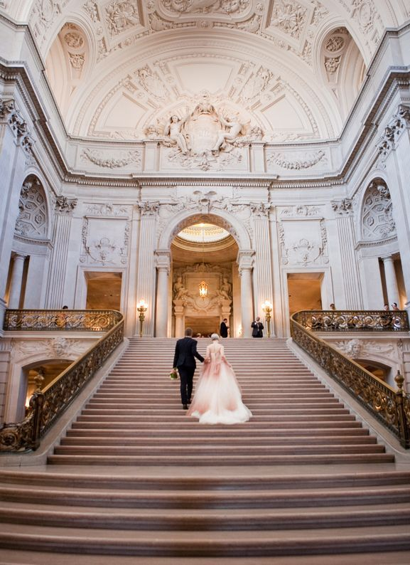 Luxe Wedding at San Francisco City Hall | Deann B Photography | See More: http://heyweddinglady.com/luxurious-ivory-black-gold-wedding-design-inspired-san-francisco-city-hall/