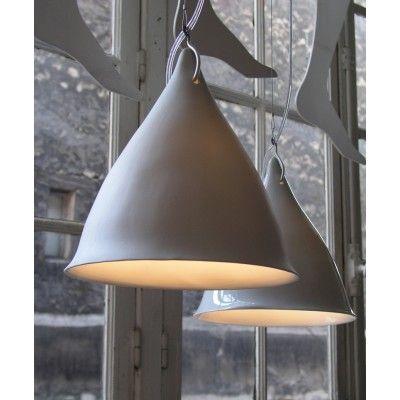 Grande Lampe Cornette Porcelaine Brillante - Lili's