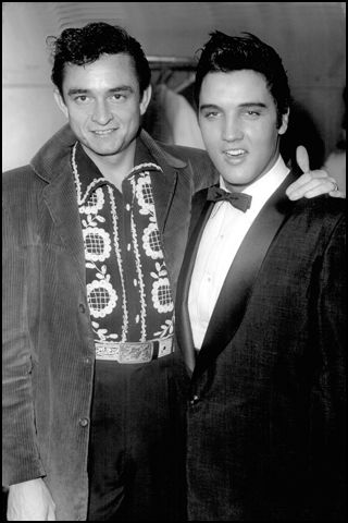 Elvis with Johnny Cash--Grand Ole Opry, Nashville, 1957