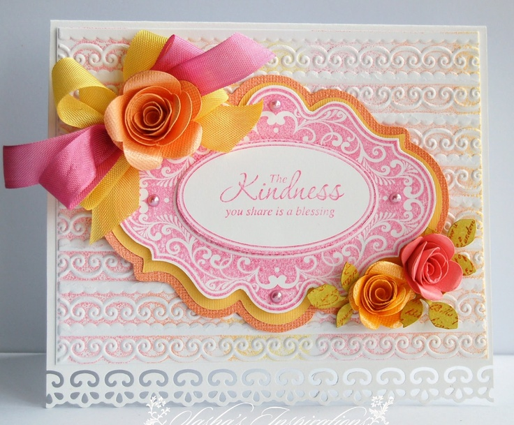 the kindness you share is a blessing: Idea, Card 16, Cards Frames, Search, Cards Volume, Card Dies Emboss, Cards Die Embossing, Sasha S Inspirations, Letterpress Technique