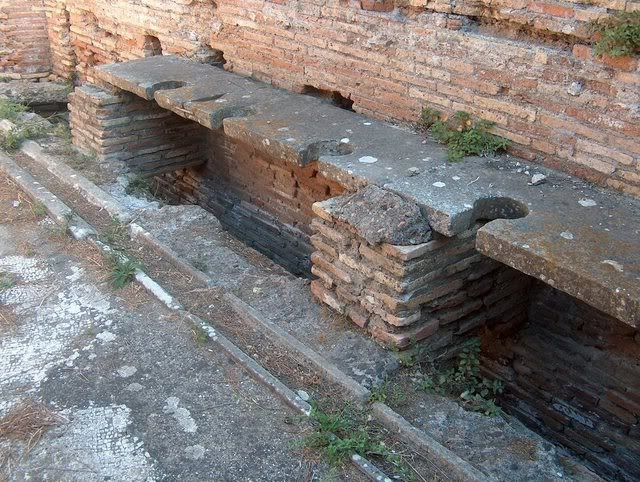 The public loos in Ostia Antica