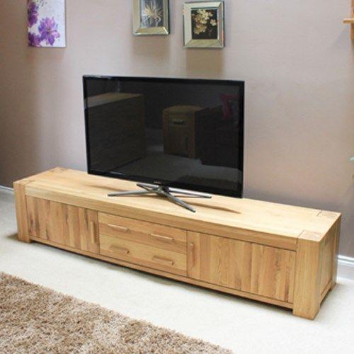 Baumhaus Atlas Solid Oak Tv Cabinet