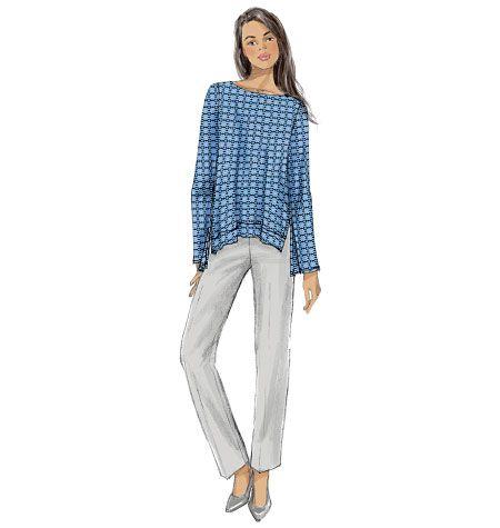 V9063, Misses' Top, Skirt and Pants #fallintofashion14 #mccallpatterncompany