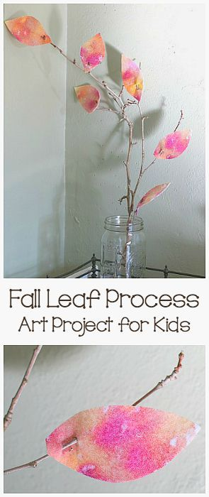 Felt Fall Leaf Process Art Project for Kids: Make this beautiful autumn decoration for your home or classroom using felt and natural materials! ~ http://BuggyandBuddy.com