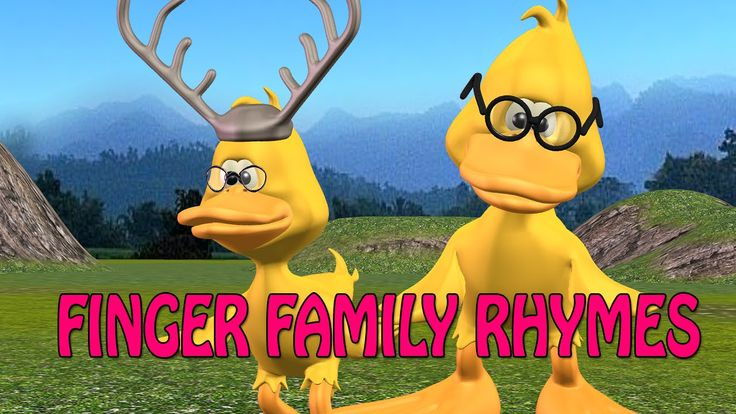 duck finger family rhymes | 3d nursery rhymes & more | finger family rhy...