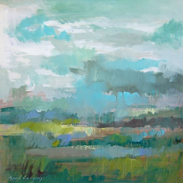 """Spring Storm, 48"""" by 48"""" on gallery wrap, SOLD"""