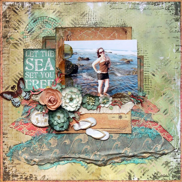 Between the Sheets: Let the Sea set you Free...SOE May Kit. Kaisercraft Paradiso collection