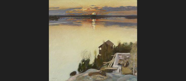 Ateneumin taidemuseo Pekka Halonen: Auringonlasku Tuusulanjärvellä 1902 Näyttely Järven lumo