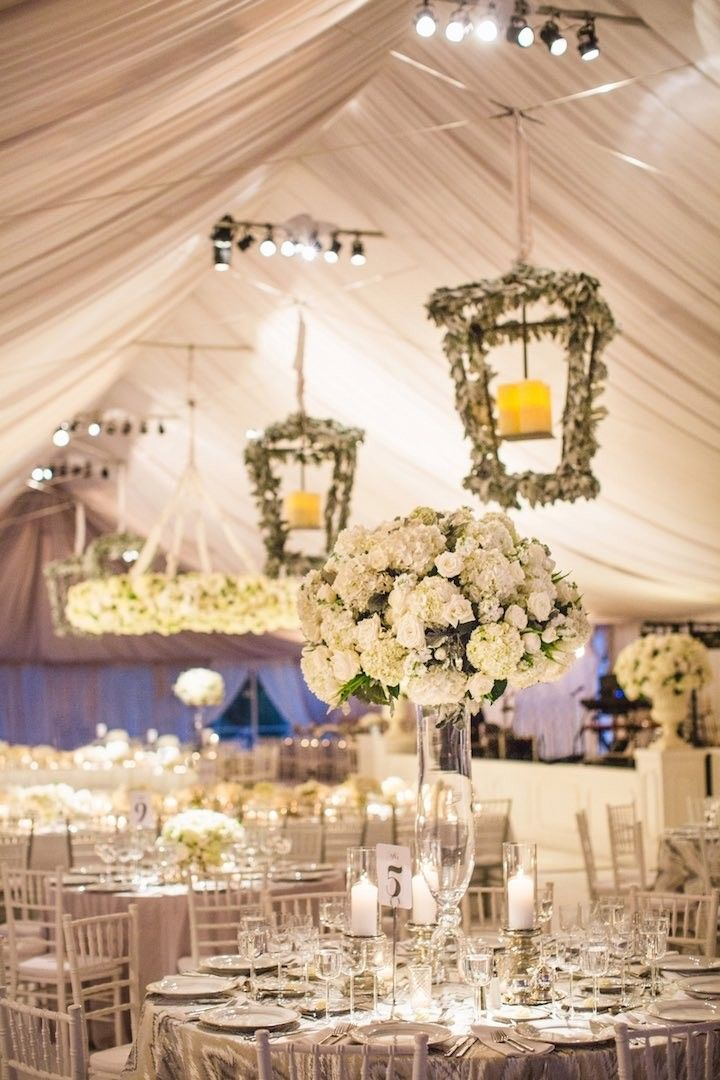 photo: Amy Campbell Photography; Elegant wedding reception idea;