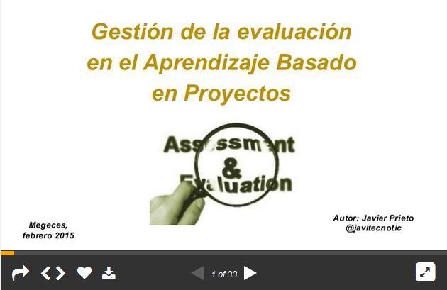 Evaluacion, Autoevaluación y Coevaluación en el Aprendizaje por Proyectos | #Presentación #Educación