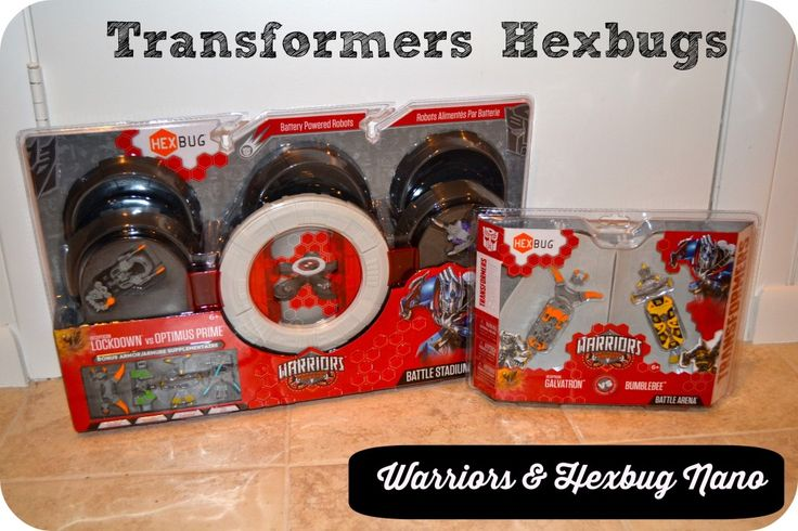 Hexbug Warriors Transformers ~ Check out this AWESOME new line from Hexbug! You can even view a live battle between Galvatron and Bumblebee!