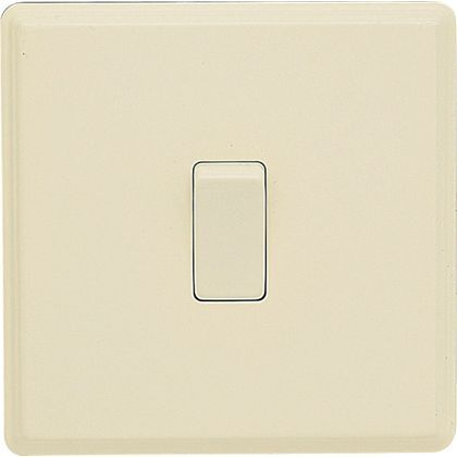 Laura Ashley 10A 2-Way Light Switch - Single - Cream at Homebase -- Be inspired and make your house a home. Buy now.
