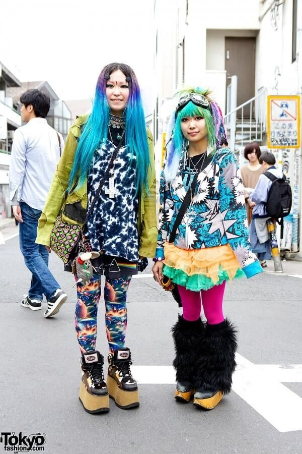 Harajuku fashion - FRuiTS. I would love to live in Japan and follow these lovely ladies and lads around.