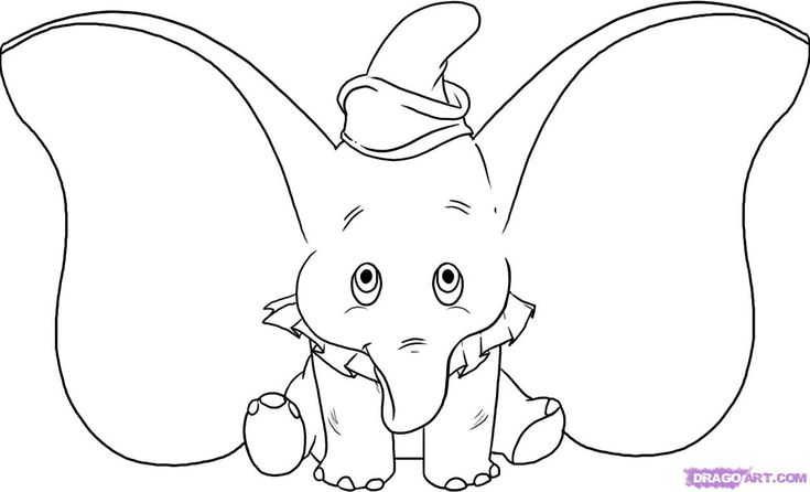 How To Draw Dumbo, Step By Step