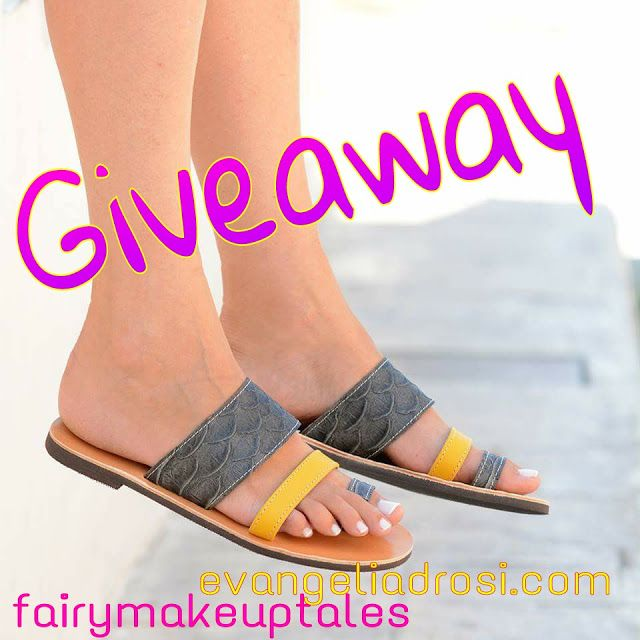 Fairy make-up tales . . . . : Win a handmade, leather sandal by EvangeliaDrosi.com!