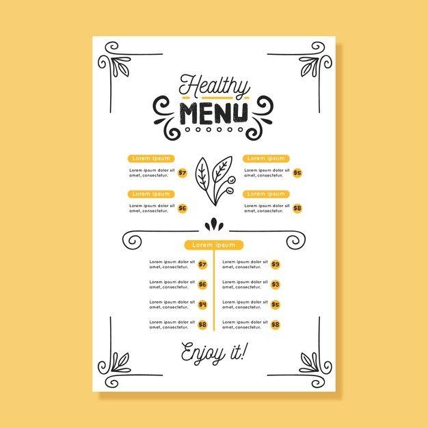 Download Vintage Healthy Food Menu Template For Free Food Menu Template Menu Design Template Healthy Food Menu