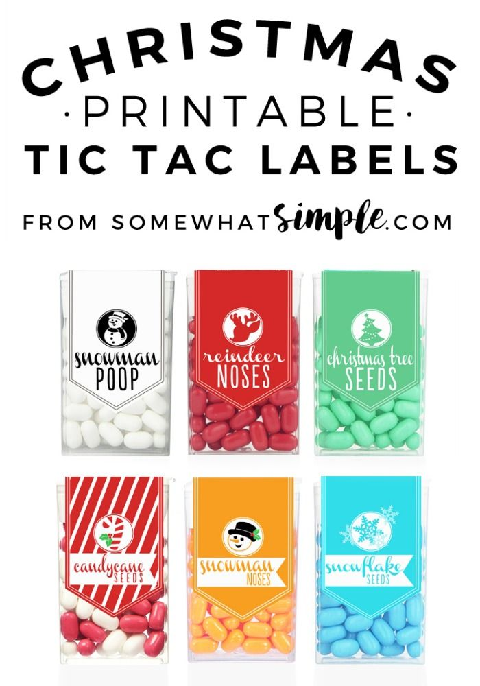 Need a quick and quirky gift for a teacher, fellow student, or just want something fun for stocking stuffers?  Then look no further.  Tic Tac Christmas Labels.  Bam.  Easy, cheap and super cute.