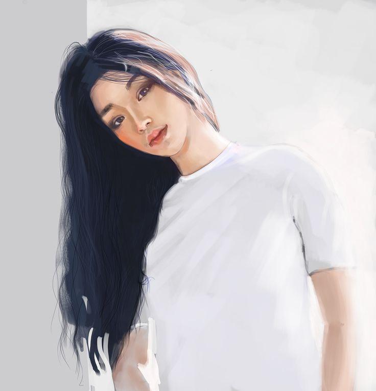 korean girl on Behance