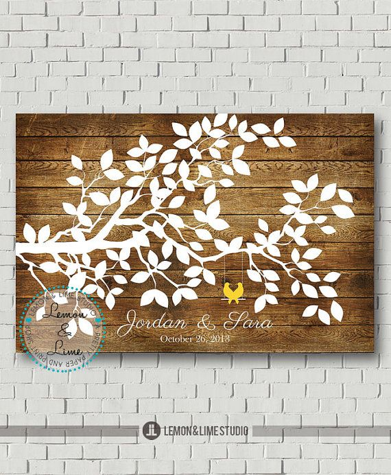 Wedding Guest Book Signature Tree Wedding by lemonANDlimeStudio, $40.00
