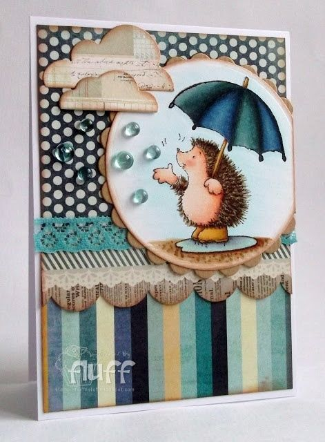 Penny Black clear acrylic stamps - HEDGIE FRIENDS, hedgehog #PennyBlack #clear