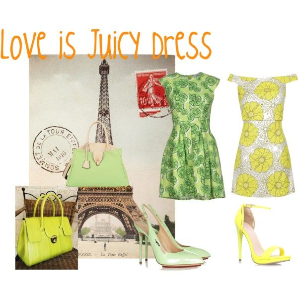Love is Juicy Dress by ve-ethnic-channel on Polyvore featuring Related, Topshop, Charlotte Olympia, Carvela Kurt Geiger, Mellow World, Cavallini, bag and bags