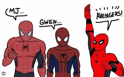 Tobey- struggling with powers  Andrew- struggling with girlfriend's dad  Tom- struggling with homework
