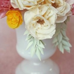 Flowers & Milk Glass <3