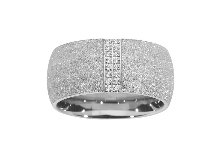 Shimmer and Shine Ring, sandblasted Stainless Steel, $85.00