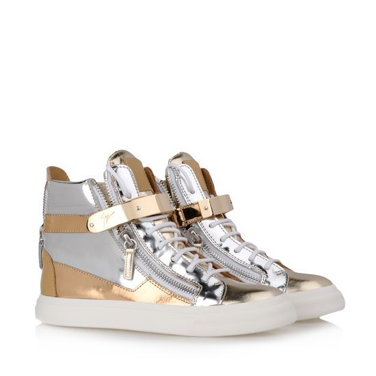 Giuseppe Zanotti Gold Sneakers Leather RDS406 002 - $145.00 http://www.lhbon.com/giuseppe-zanotti-gold-sneakers-leather-rds406-002-p-1228.html