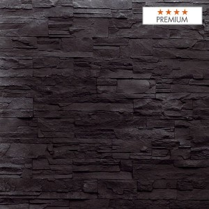 """Wandpaneel Aspen Black Polyester HD Nomastone - Höhe 1300 mm x Breite 3300 mm - Pack 1 x 1 p - Qualität """"Premium"""""""