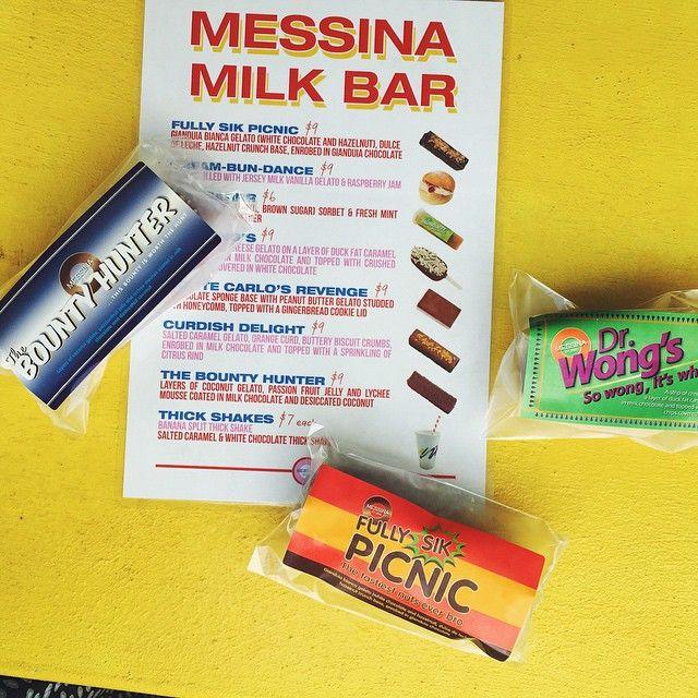 Messina Milk Bar - Three Amigos #fullysikpicnic #thebountyhunter #drwongs   *Available until 22nd March #spectrumnow #messinamilkbar
