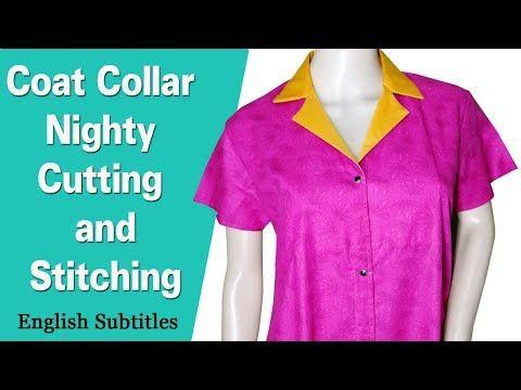 19fb101154 full open nighty cutting and stitching DIY tutorial hindi