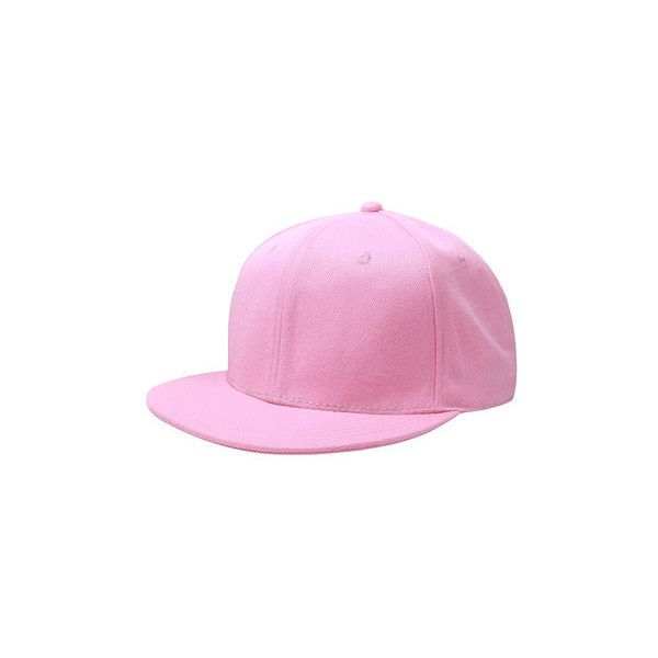 60cm Unisex Plain Fitted Cap Solid Flat Blank Color Baseball Hat ($9.31) ❤ liked on Polyvore featuring accessories, hats, pink, baseball cap hats, cap hats, fitted caps, flat hat and pink hat