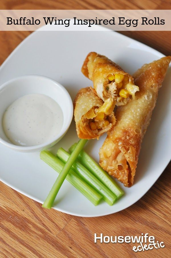 Housewife Eclectic: Buffalo Wing Inspired Egg Rolls