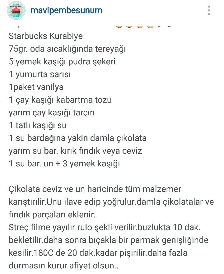Starbucks Kurabiye