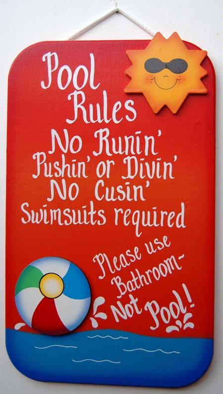 25 Best Swimming Pool Signs Ideas On Pinterest